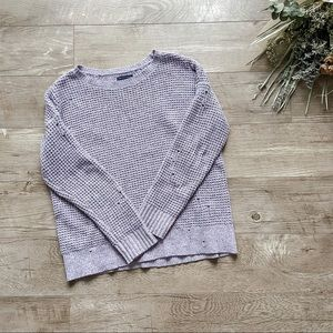 American Eagle Distressed Lavender Sweater size M